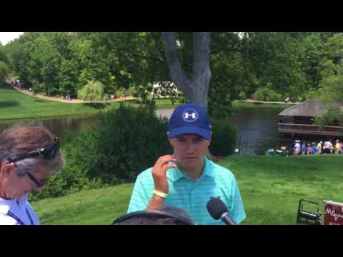 Jordan Spieth on playing the first round of the Memorial Tournament with No. 1-ranked Dustin J...