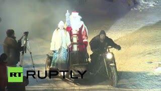 «Ночные волки» устроили новогоднее шоу в Москве