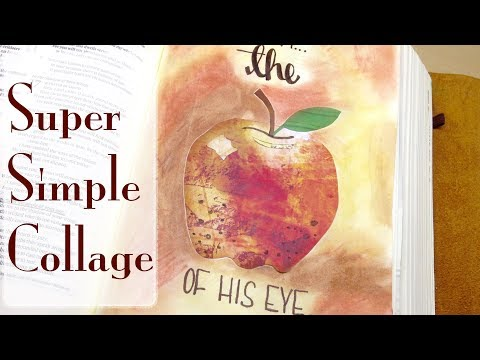 Bible Journaling Collage: The Apple Of His Eye (Psalm 17:8)