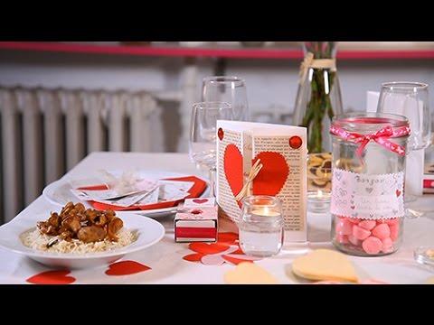 Diy saint valentin d coration de table cocooning youtube - Deco de table saint valentin ...