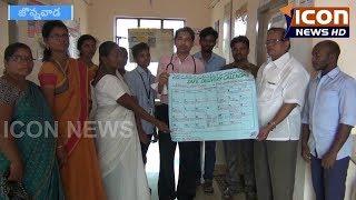 #Jonnawada - #Khadar Basha issued Safe Delivery Calendars.#Primary Health Center Doctor ICON NEWS