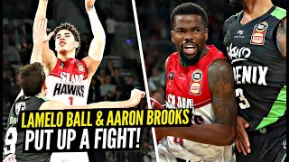 LaMelo Ball & Former NBA PG Aaron Brooks Put Up a FIGHT vs TOUGH Opposing Team!!