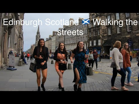 Edinburgh Scotland 🏴 walking the streets 2020