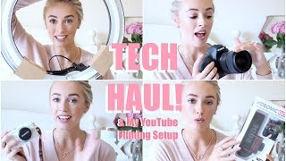 Blog & YouTube Tech Haul! + My Filming Setup & Neewer Ring Light Review