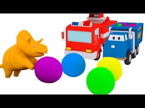 Mingii şi trambuline: învaţă maşinuţele cu Dinozaurul Dino| Desene animate educaţionale pentru copii