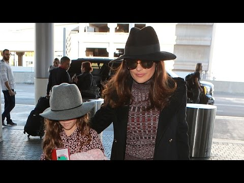 Salma Hayek Is A Classy Traveler With Her Mini-Me At LAX