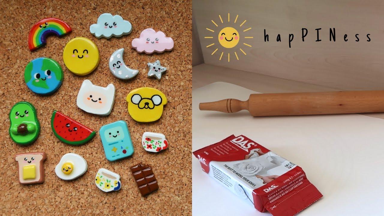 Nasıl Kil Broşlar Yapıyorum? | happinesspinshop | How I Make Clay Pins