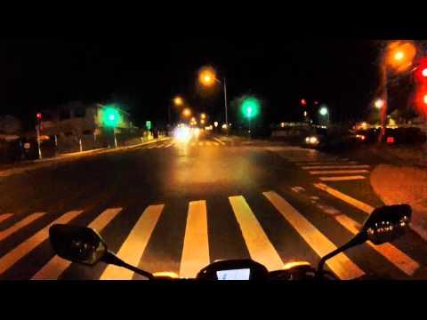 Honda CB300F Waikiki Hawaii Kai Night Ride