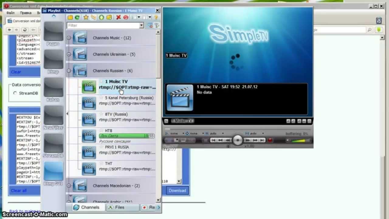 Conversion xml to m3u for SimpleTV