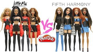 Play Doh Barbie Fashion Star Fifth Harmony VS  Little Mix Inspired Costumes