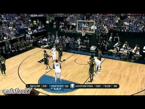 #1 Kentucky vs #3 Baylor Elite Eight 3/25/12
