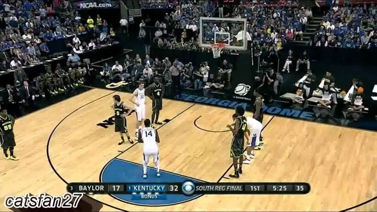 1 Kentucky Vs 3 Baylor Elite Eight 3 25 12