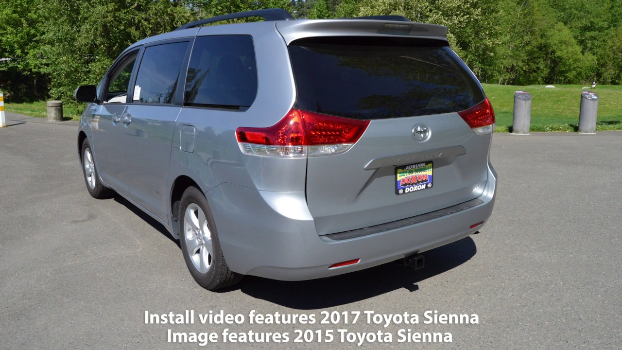 2017 2019 Toyota Sienna Ecohitch Trailer Hitch Installation