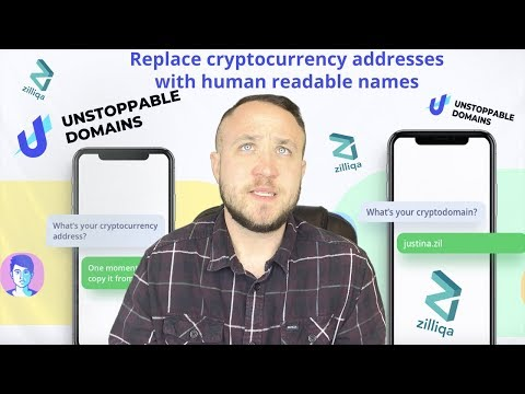 REPLACE YOUR CRYPTOCURRENCY ADDRESS WITH READABLE NAMES - UNSTOPPABLE DOMAINS