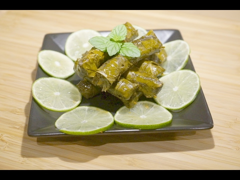 Egyptian Stuffed Grape Leaves recipe (Dolma) ... طريقة عمل المحشي ورق عنب مصري