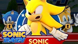 Sonic Dash:  Super Sonic Gameplay (60FPS)