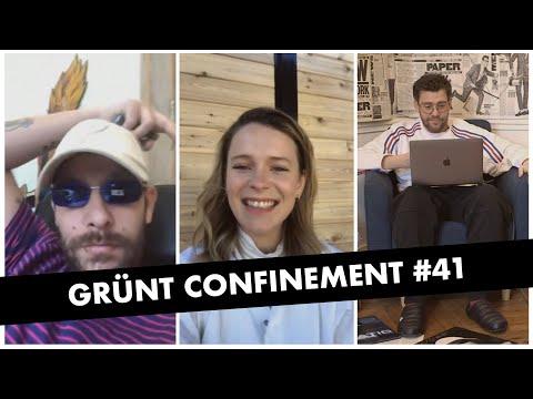 Youtube: Grünt Confinement #41 avec Senamo et Charlotte Aubin