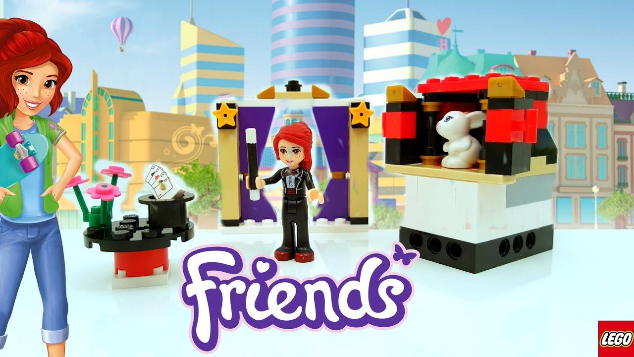 Lego Friends Mias Magic Tricks Building Review 41001 Youtube
