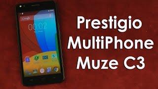 Распаковка Prestigio MultiPhone 3504 Muze C3