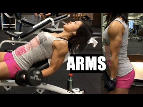 Arm Workout - Bodybuilding Competition  weeks out