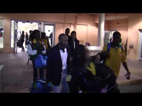 BVI Carifta Team Arrives In Bermuda Apr 4 2012