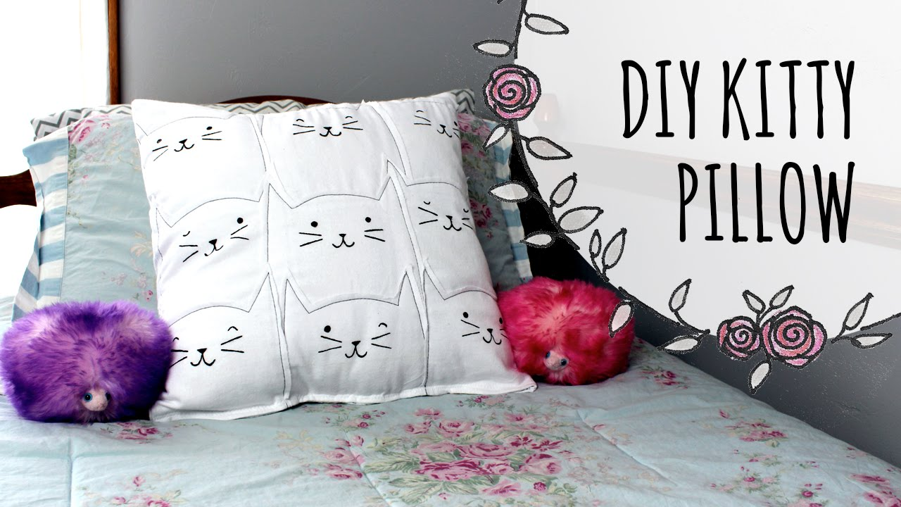 Diy Cat Lovers Pillow Youtube