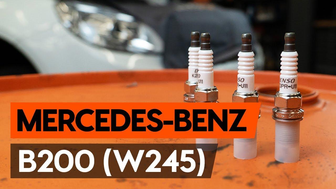 Как заменить свечи зажигания на MERCEDES-BENZ B200 (W245) [ВИДЕОУРОК AUTODOC]