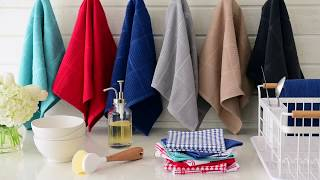 T-fal Textiles Solid and Check Kitchen Towels (Set of 2)