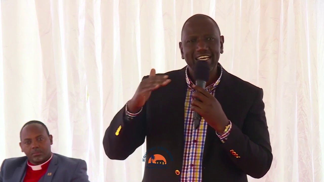 """I HOPE YOU HEARD WHT THE PRESIDENT SAID,""DP WILLIAM RUTO HAPPY NOW THAT CHURCHES HAVE REOPENED."