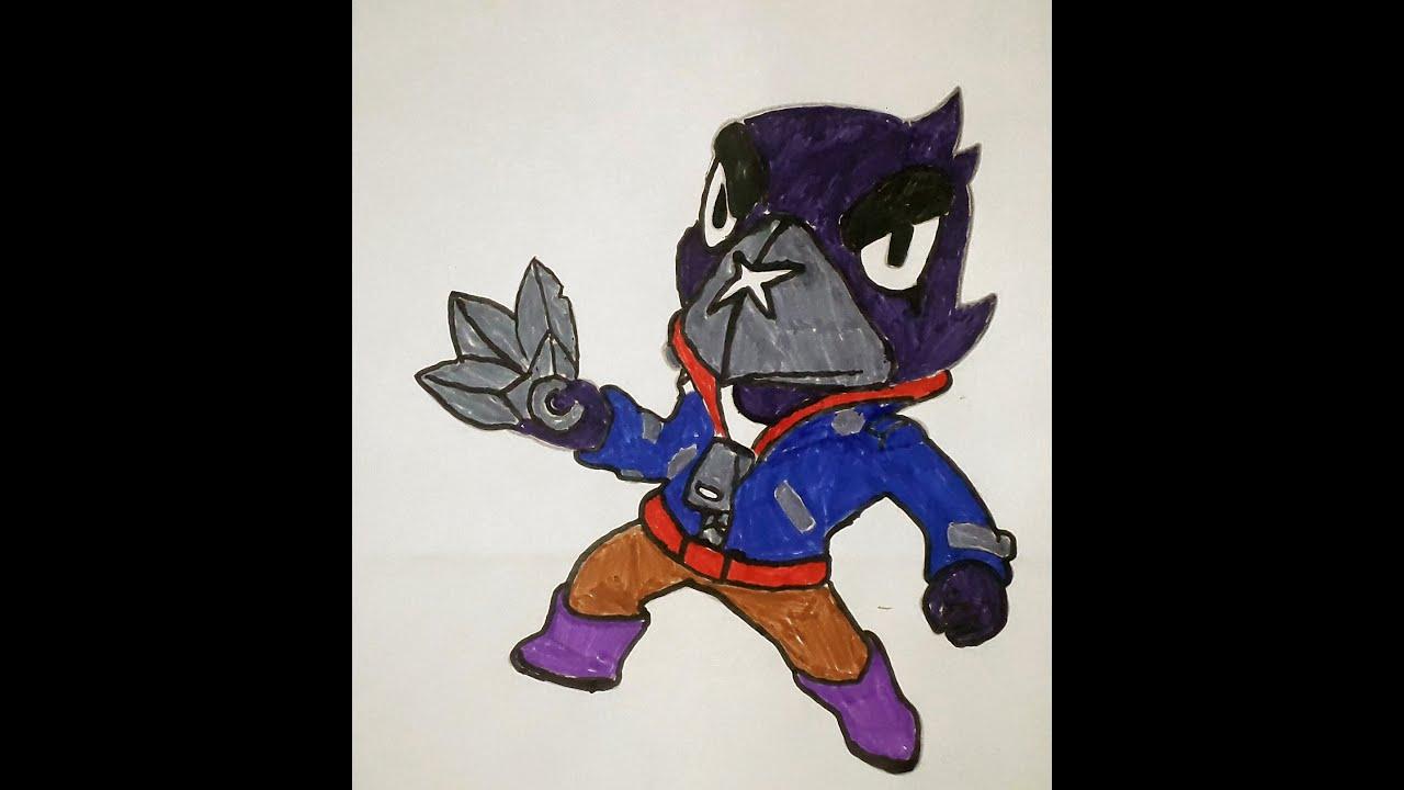 Раскраска Ворон из Браво Старс / Coloring Crow Brawl Stars ...