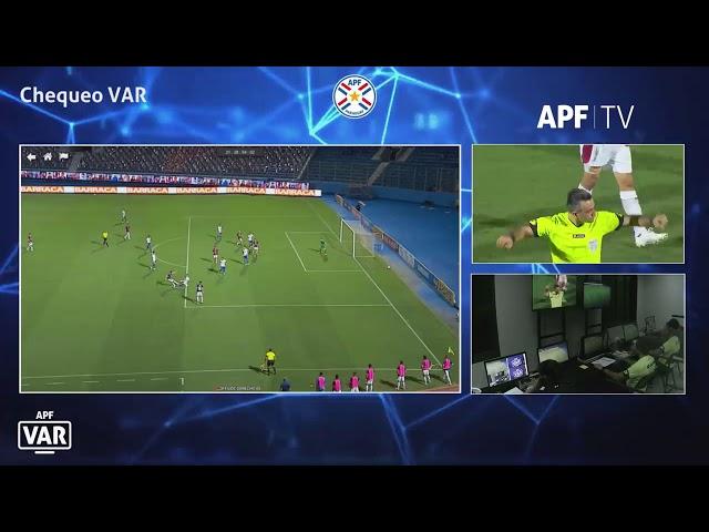 Cerro Porteño vs. Sp. Luqueño. Revisión (posible penal). Mano.