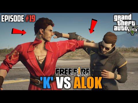 GTA X FREEFIRE : DJ 'K ' VS DJ ALOK  MEGA BATTLE
