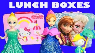 Disney Frozen SURPRISE Lunch Box Boxes Elsa Anna HELLO KITTY Princess Lalaloopsy