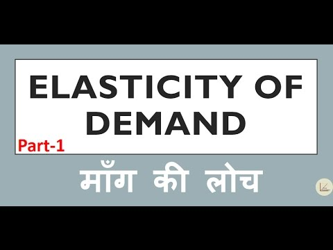 Elasticity Of Demand Part 1 In Hindi म ग क ल च भ ग 1