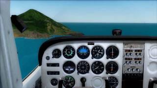 FS2004 : Carenado Cessna Landing at Saba