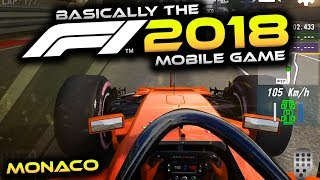 BASICALLY THE F1 2018 GAME!!   Racing at Monaco Gameplay