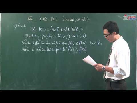 Bổ trợ kiến thức lớp 12 - Môn Toán - Cực trị của hàm số - Cadasa.vn