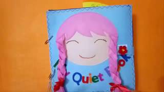 Quiet book for kid/Book for girls 02/Skill practice book /felt book/ busy book