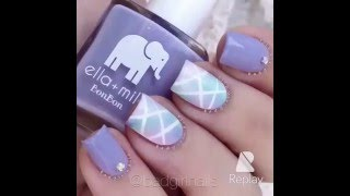 Маникюр (гель лак) видео урок дизайна ногтей
