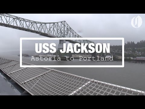 Watch the USS Jackson navy ship travel from Astoria to Portland (time lapse)