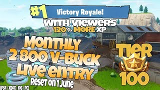 [PC-XBOX] FORTNITE | 2800 V-BUCK GIVEAWAY | LEVEL 76 | TIER 100 | DONOS TEXT TO SPEECH ON O.o