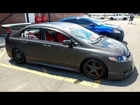 2010 MATTE FINISH GRAY HONDA CIVIC with WHALE TAIL SPOILER