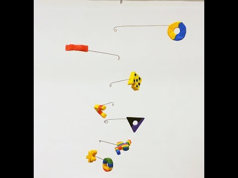 How to Balance a Calder Style Cascading Mobile Sculpture