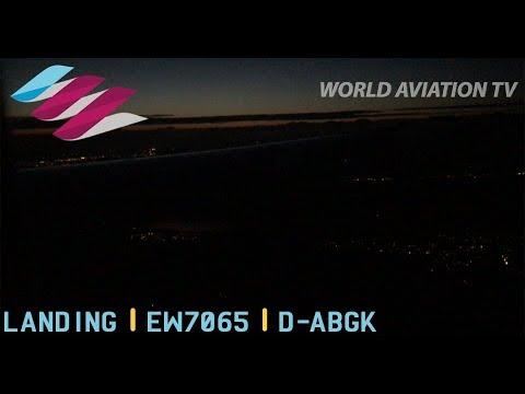 Eurowings A319 Landing Hamburg Night [HD]