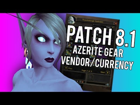 Patch 8.1 Azerite Gear Currencty (Titan Residuum) -  WoW: Battle For Azeroth 8.0.1