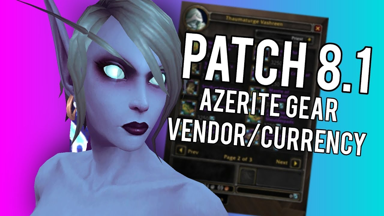 Patch 8 1 Azerite Gear Currencty (Titan Residuum) - WoW: Battle For Azeroth  8 0 1