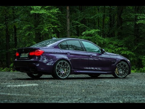 2017 BMW M3 Competition (450HP) - scary driving, rainy weather. Great acceleration sound!