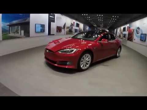 Tesla in Park Meadows Mall Denver, CO Sept 18, 2017