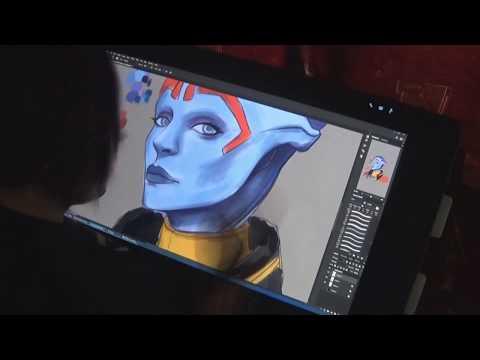 Создание неонового портрета Самары
