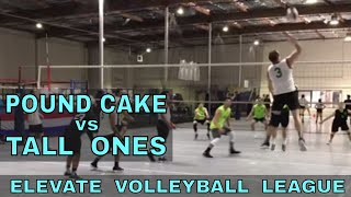 Pound Cake vs Tall Ones - EVL #2, Match 1, Pool Play (Elevate Volleyball League 2018)